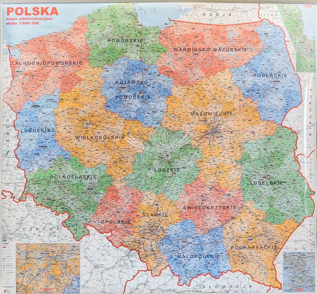Polska Scienna Mapa Administracyjna Jokart