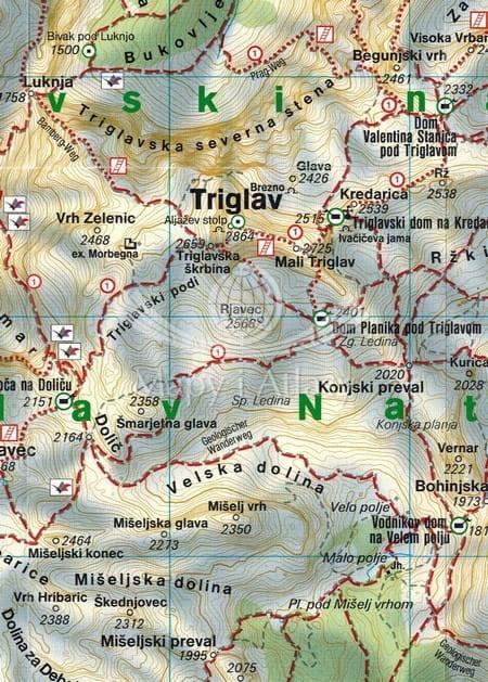 Triglav Mapa Skladana Turystyczna Freytag