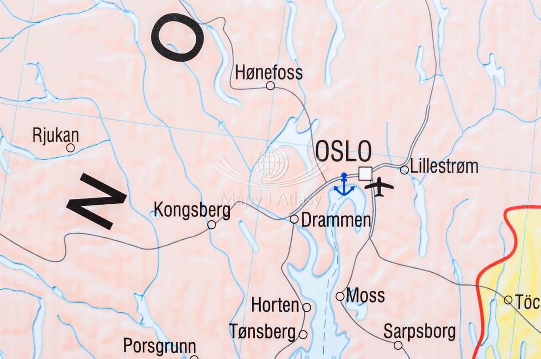 Basen Morza Bałtyckiego Mapa ścienna