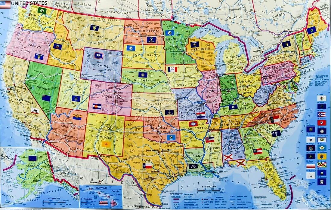 Usa Mapa Kodowa Do Wpinania St