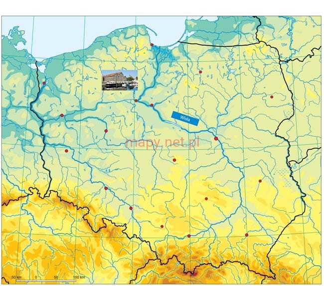 Polska Mapa Magnetyczna Fizyczna 71 X 60 Cm
