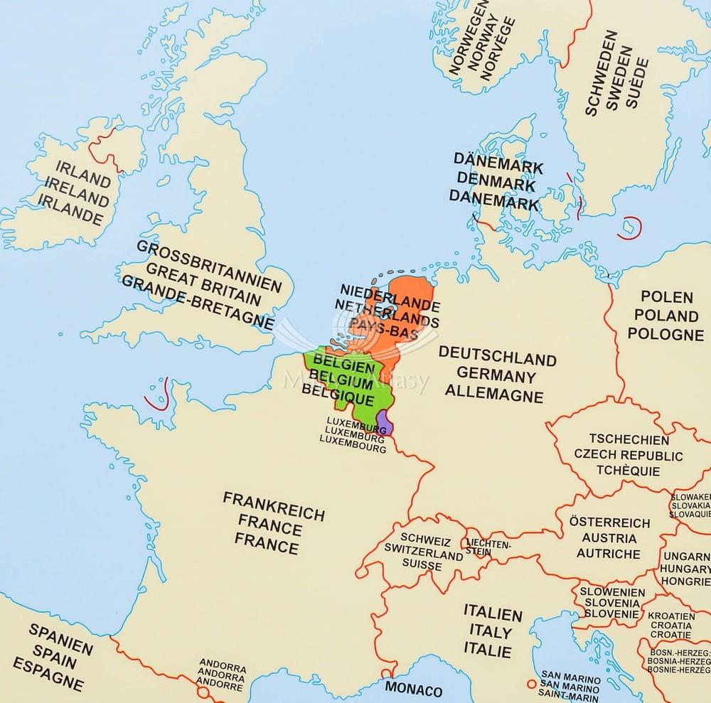 Beneluks Mapa Scienna Kody Pocztowe Stiefel