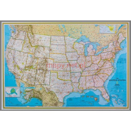 Usa Mapa Polityczna Magnetyczna Ng