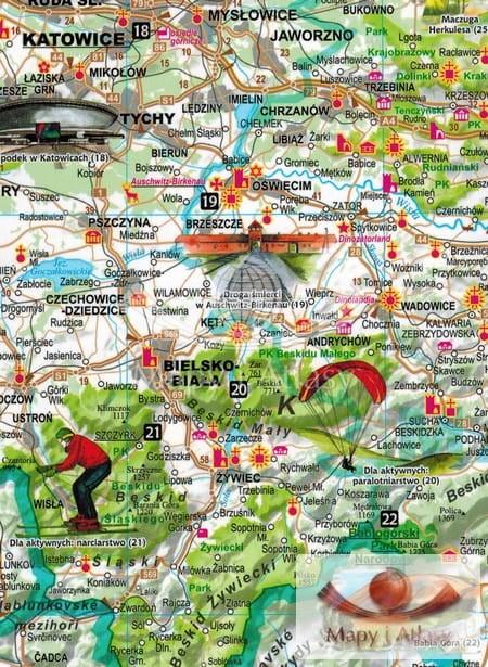 Polska Czesc Poludniowa Mapa Expressmap