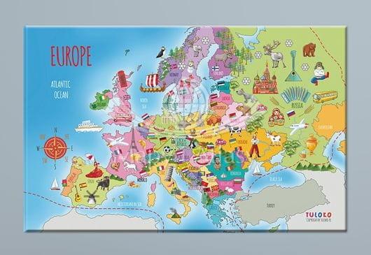 Mapa Europy Do Naklejenia Na ścianę Tuloko