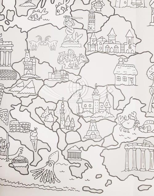 Wielka Mapa Europy Kolorowanka Dla Dzieci