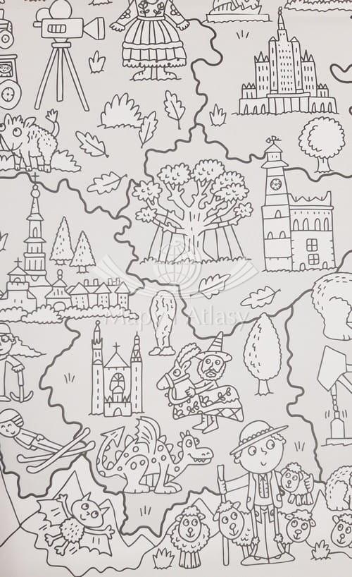 Wielka Mapa Polski Kolorowanka Dla Dzieci