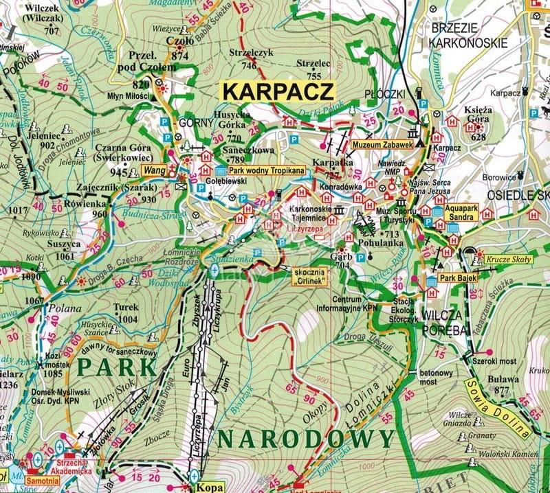 Karkonosze Skladana Mapa Turystyczna Eko Graf