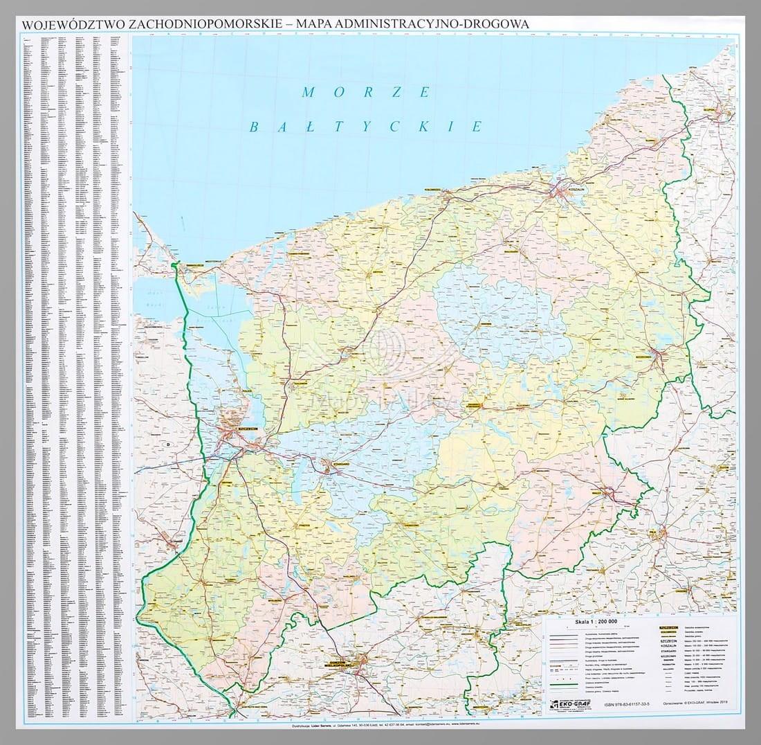 Zachodniopomorskie Mapa Drogowa Do Wpinania