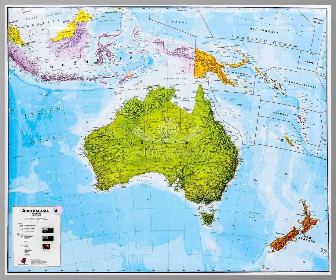Australia Mapa Polityczna Magnetyczna