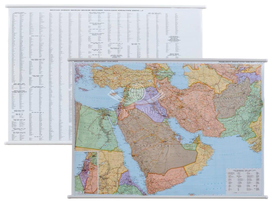 Bliski Wschod Mapa Scienna Polityczna