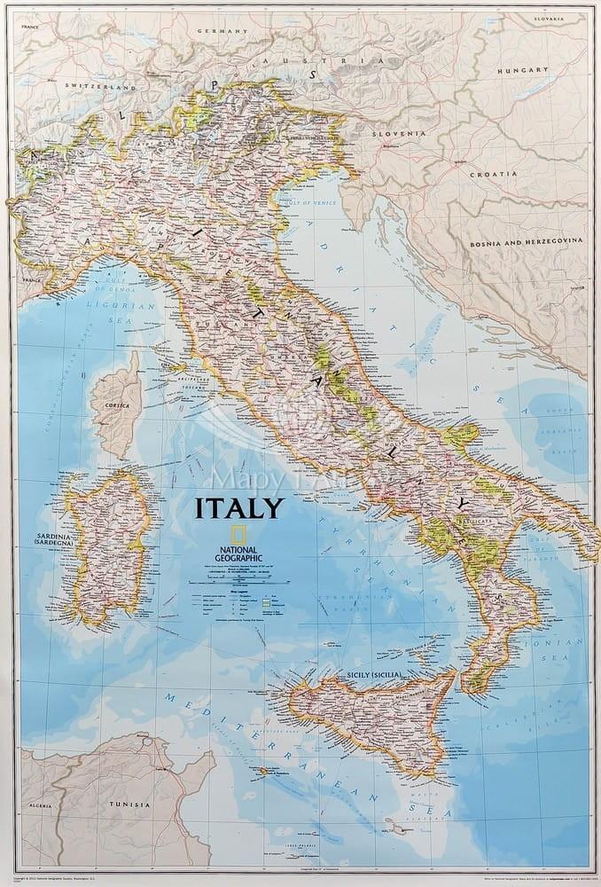 Wlochy Mapa Scienna National Geographic