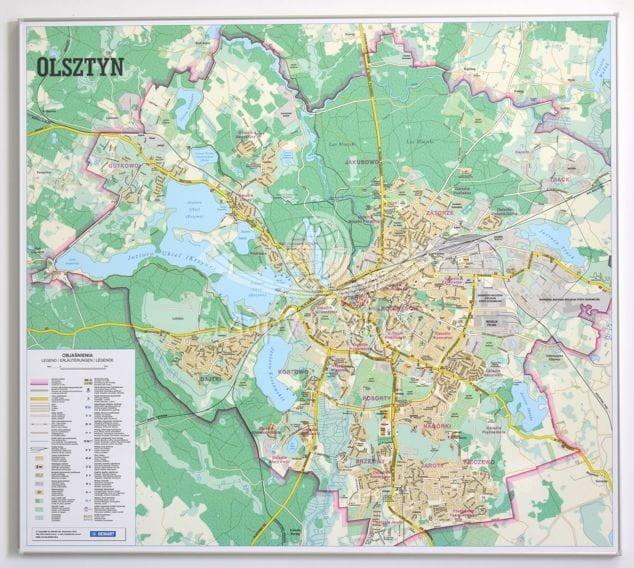 Olsztyn Plan Miasta Mapa Magnetyczna