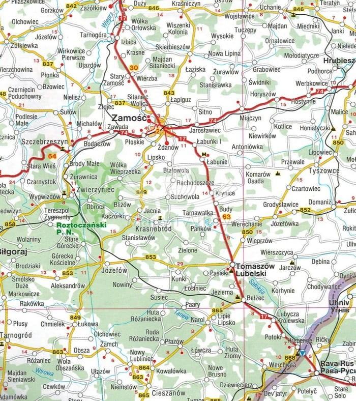 Polska I Europa Centralna Mapa Skladana