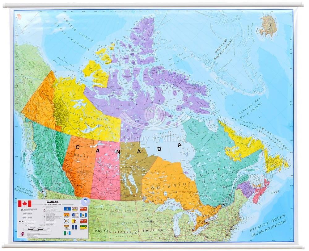 Kanada Mapa Scienna Polityczna Mi