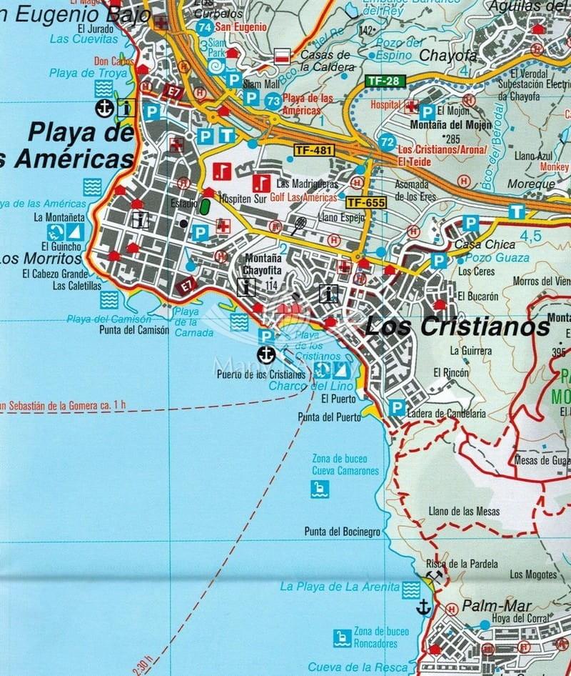 Teneryfa Mapa Skladana Turystyczna Kompass