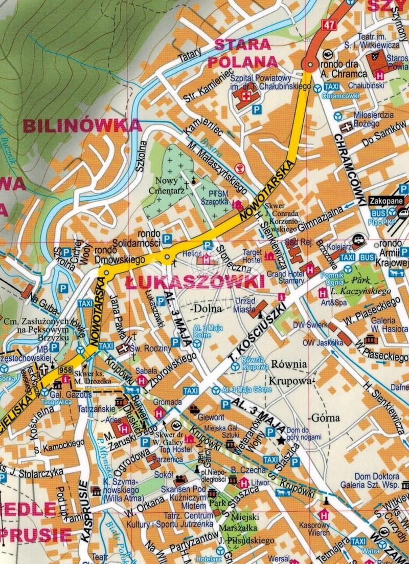 Zakopane I Okolice Mapa Plan Miasta Expressmap