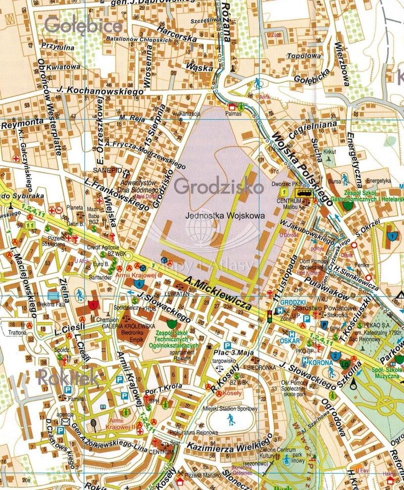 Sandomierz Mapa Skladana Plan Miasta Galileos