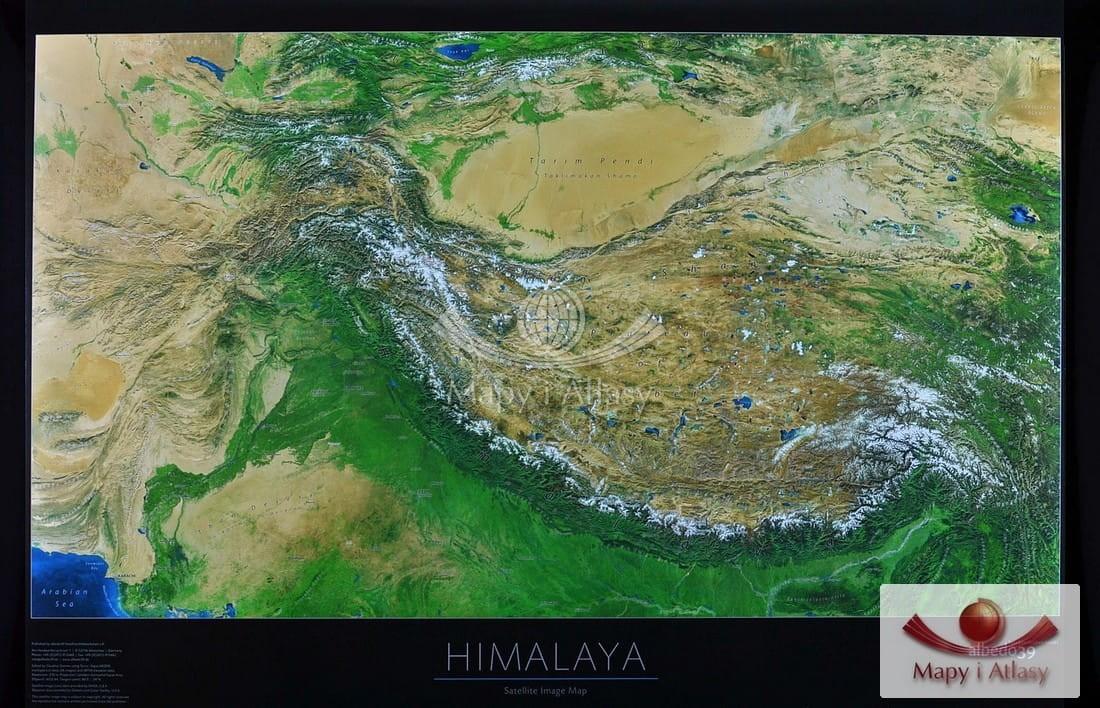 Himalaje Mapa Scienna Satelitarna Do Powieszenia