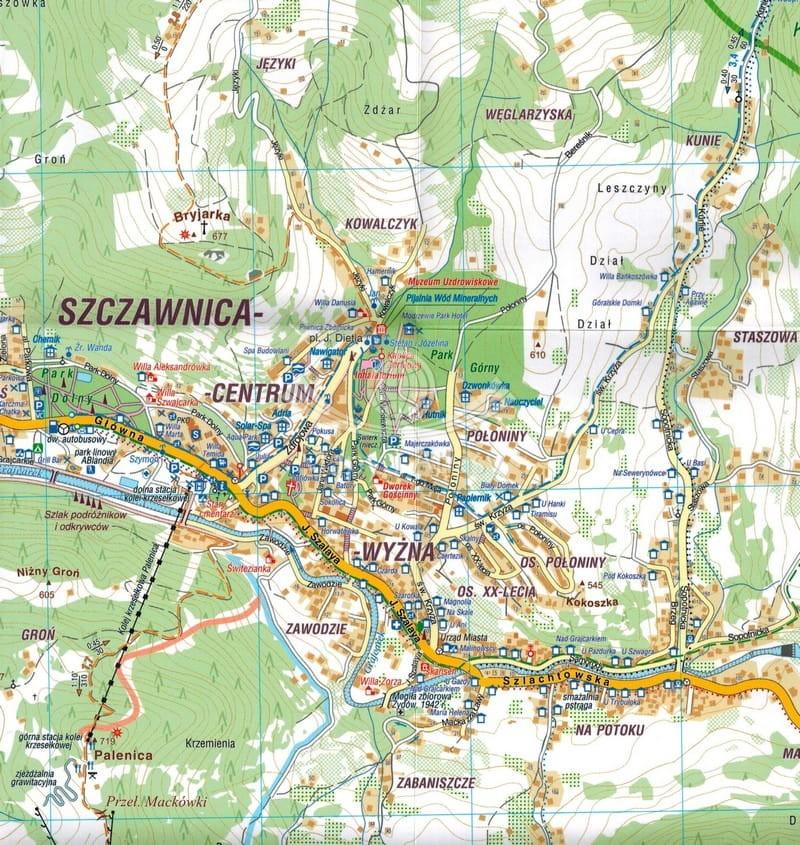 Szczawnica Mapa Skladana Turystyczna Wodoodporna