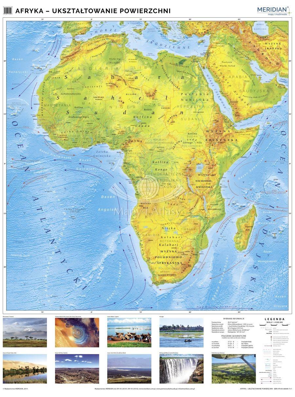 Afryka Mapa Scienna Fizyczna Szkolna Na Sciane