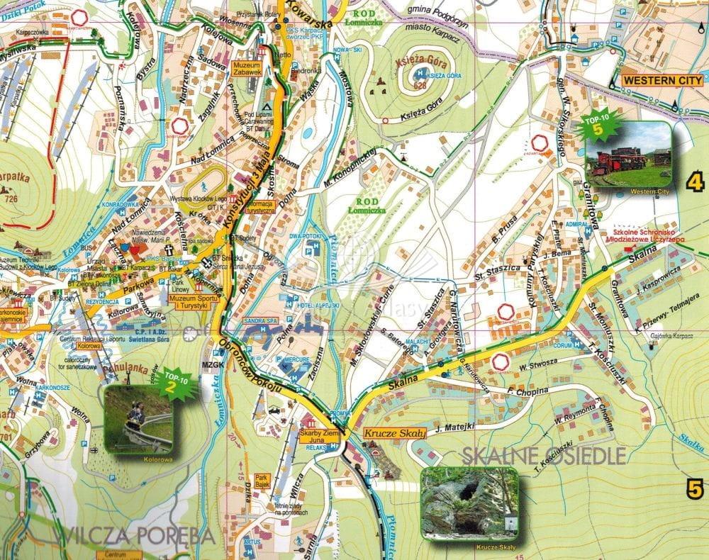 Karpacz Skladana Mapa Turystyczna Galileos