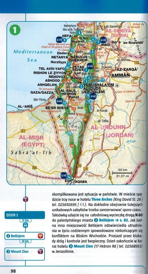 Izrael Przewodnik Z Mapa Marco Polo