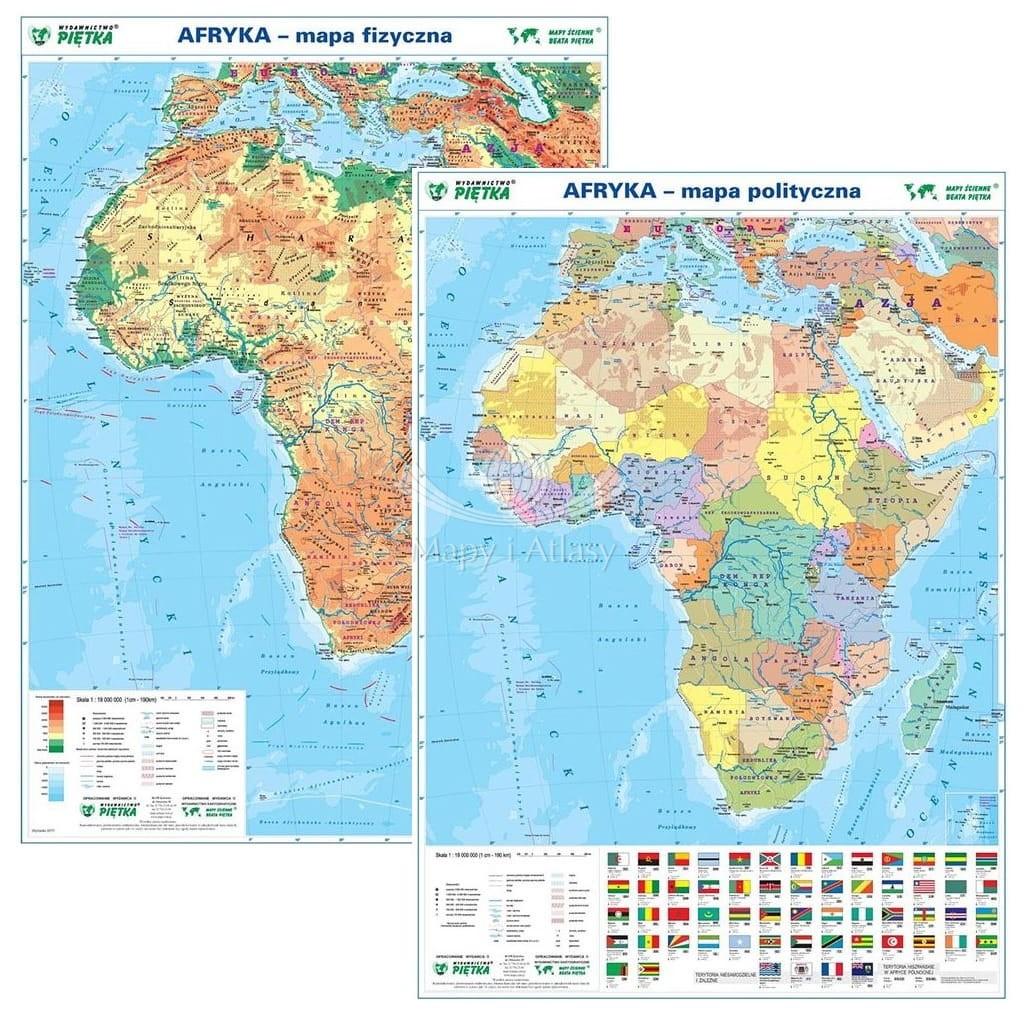 Afryka Mapa Podreczna Dwustronna Fiz Pol