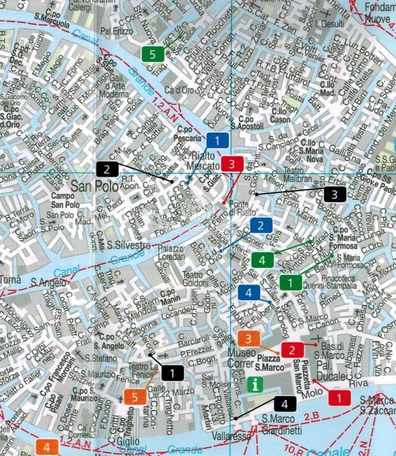 Wenecja Mapa Skladana Laminowana Fb