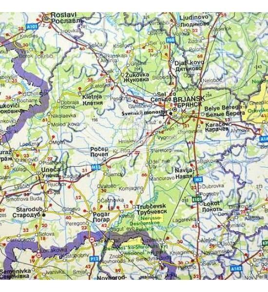 Europa Wschodnia Rosja Wspolnota Niepodleglych Panstw Mapa