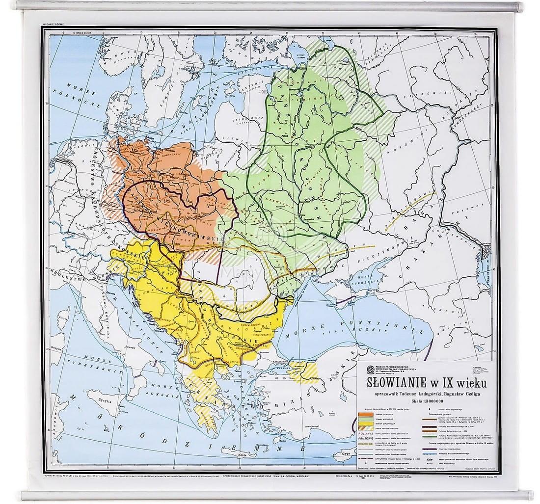 Europa Srodkowa Mapa Szkolna Historyczna