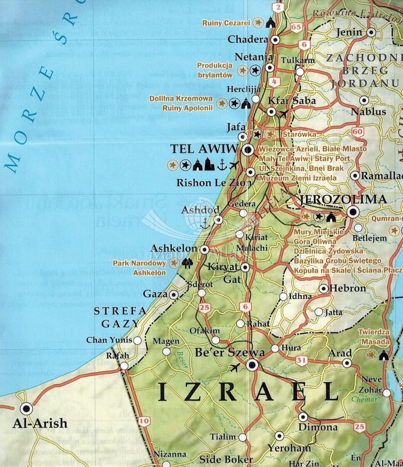 Ziemia Swieta I Jordania Przewodnik Mapa Pascal