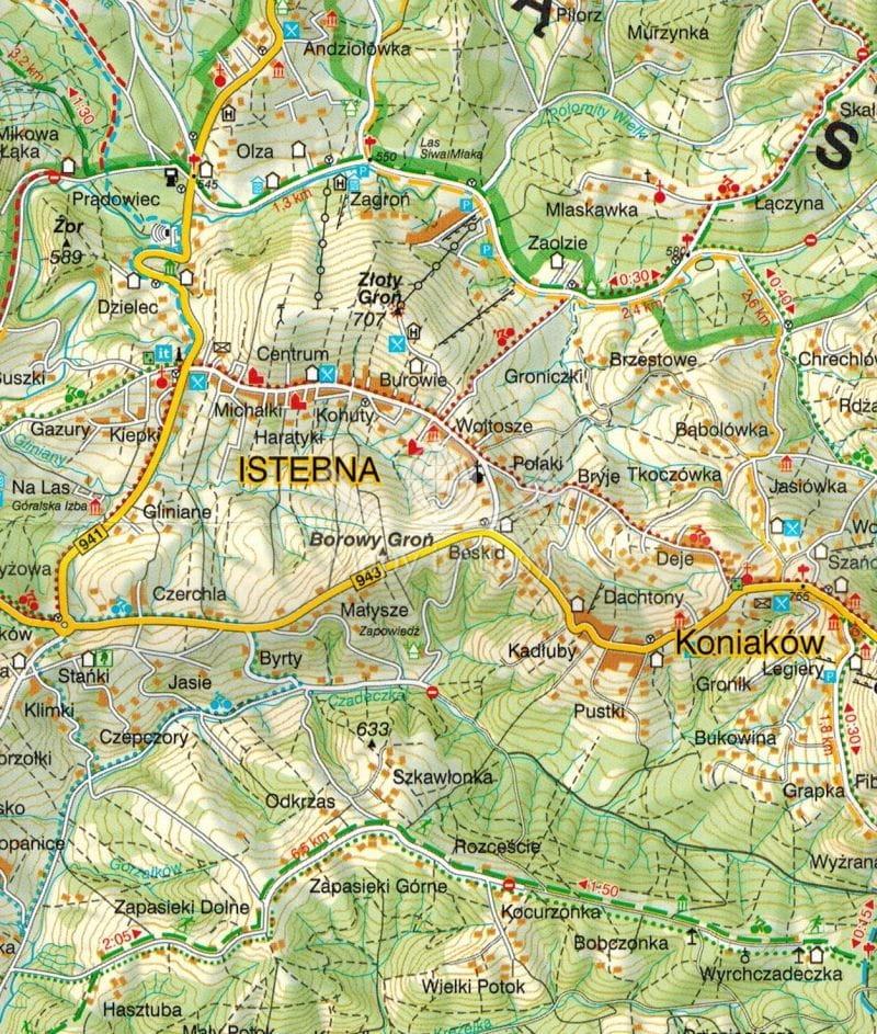 Wisla Mapa Turystyczna Skladana Wit