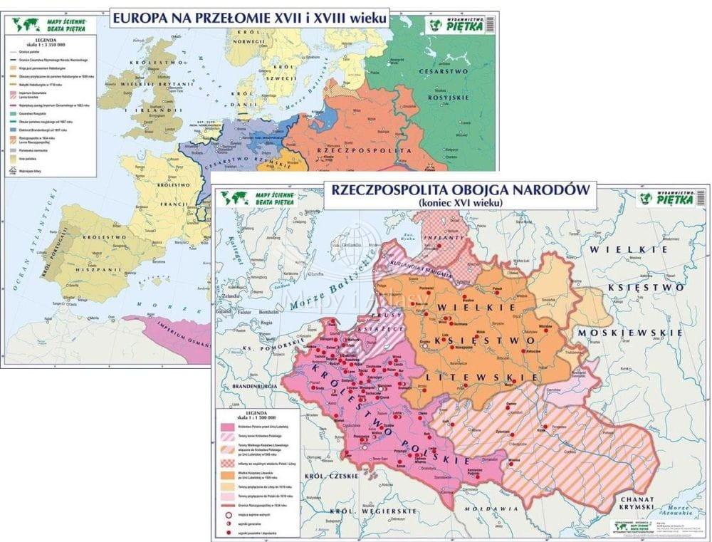Rzeczpospolita Obojga Narodow Mapa Szkolna