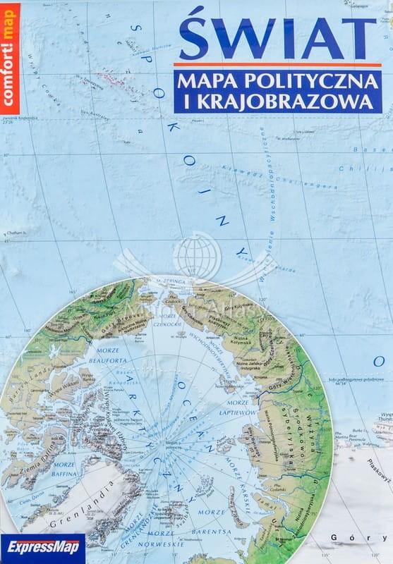 Swiat Mapa Skladana Polityczna I Fizyczna