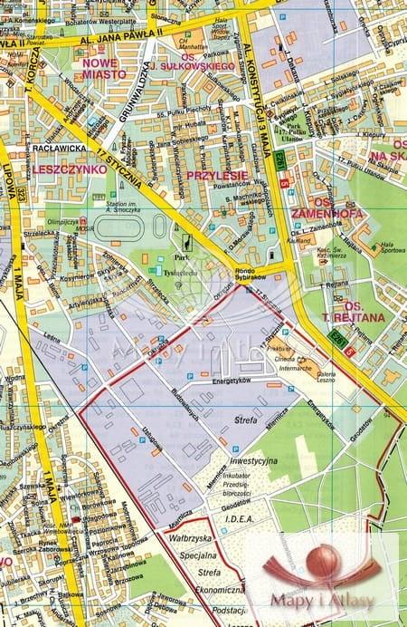 Plan Mapa Leszna Rawicza
