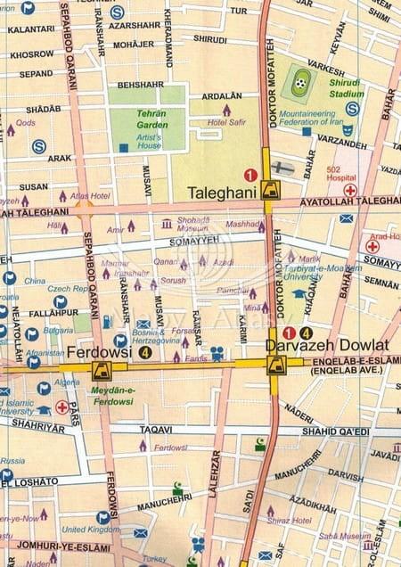 Iran Mapa Samochodowa Skladana Teheran