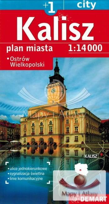 Kalisz Ostrow Wielkopolski Mapa Plan Miasta Demart