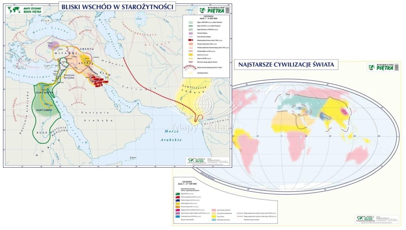 Bliski Wschod W Starozytnosci Mapa Szkolna