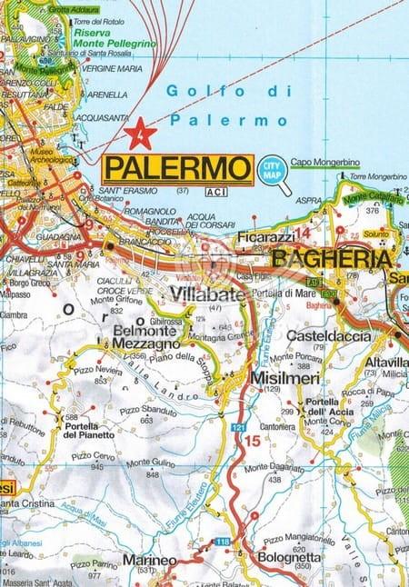 Sycylia Mapa Samochodowa Skladana Mp