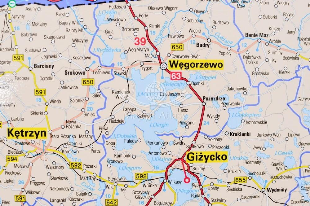 Polska Polnocno Wschodnia Mapa Scienna