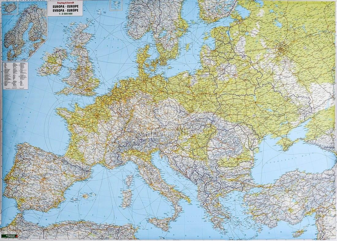 Europa Mapa Scienna Fizyczno Drogowa Fb