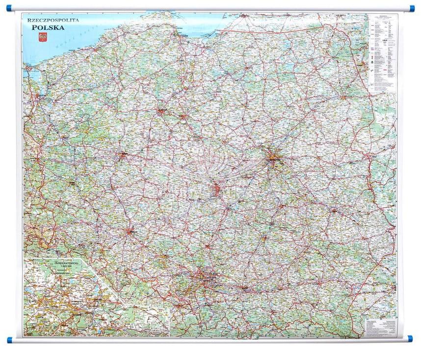 Polska Mapa Do Powieszenia Na Sciane