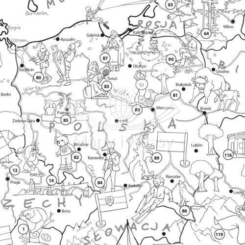 Europa Kolorowanka Xxl Mapa Młodego Odkrywcy