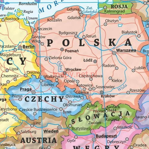 Europa Mapa Fizyczna I Polityczna Podkladka