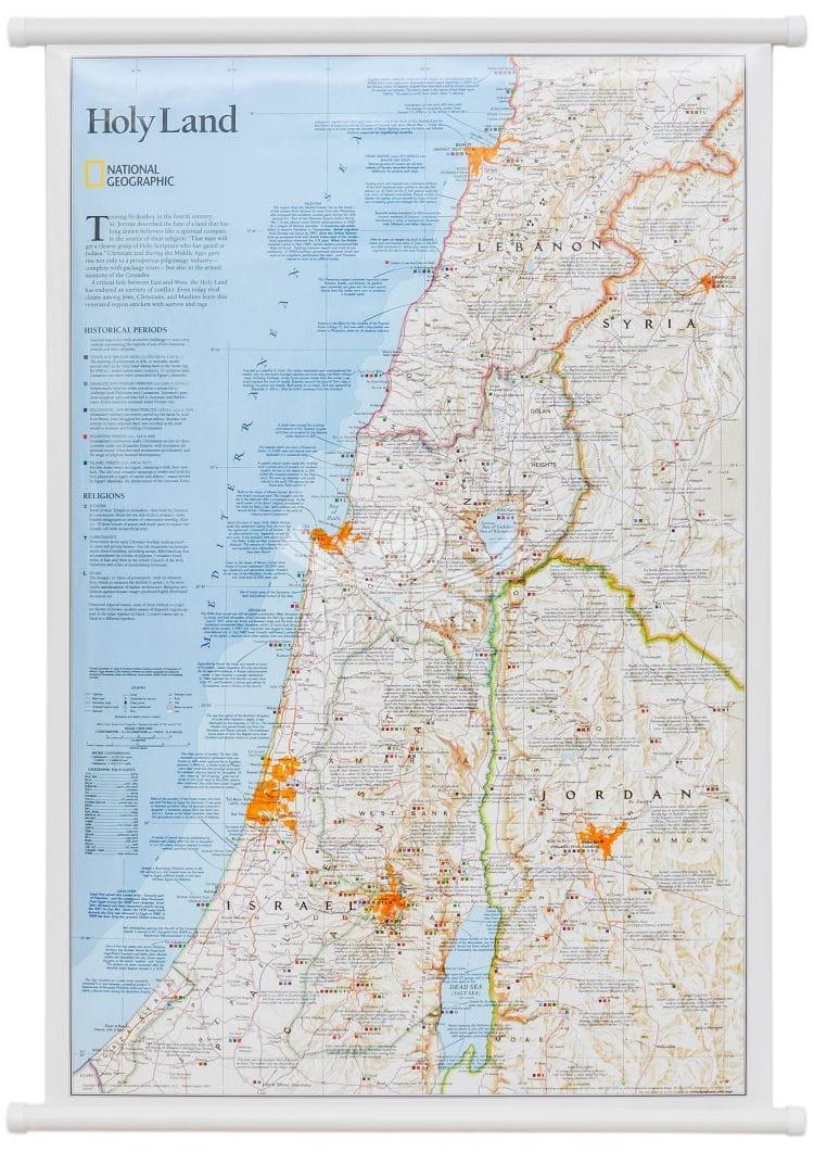 Ziemia Swieta Mapa Scienna National Geographic
