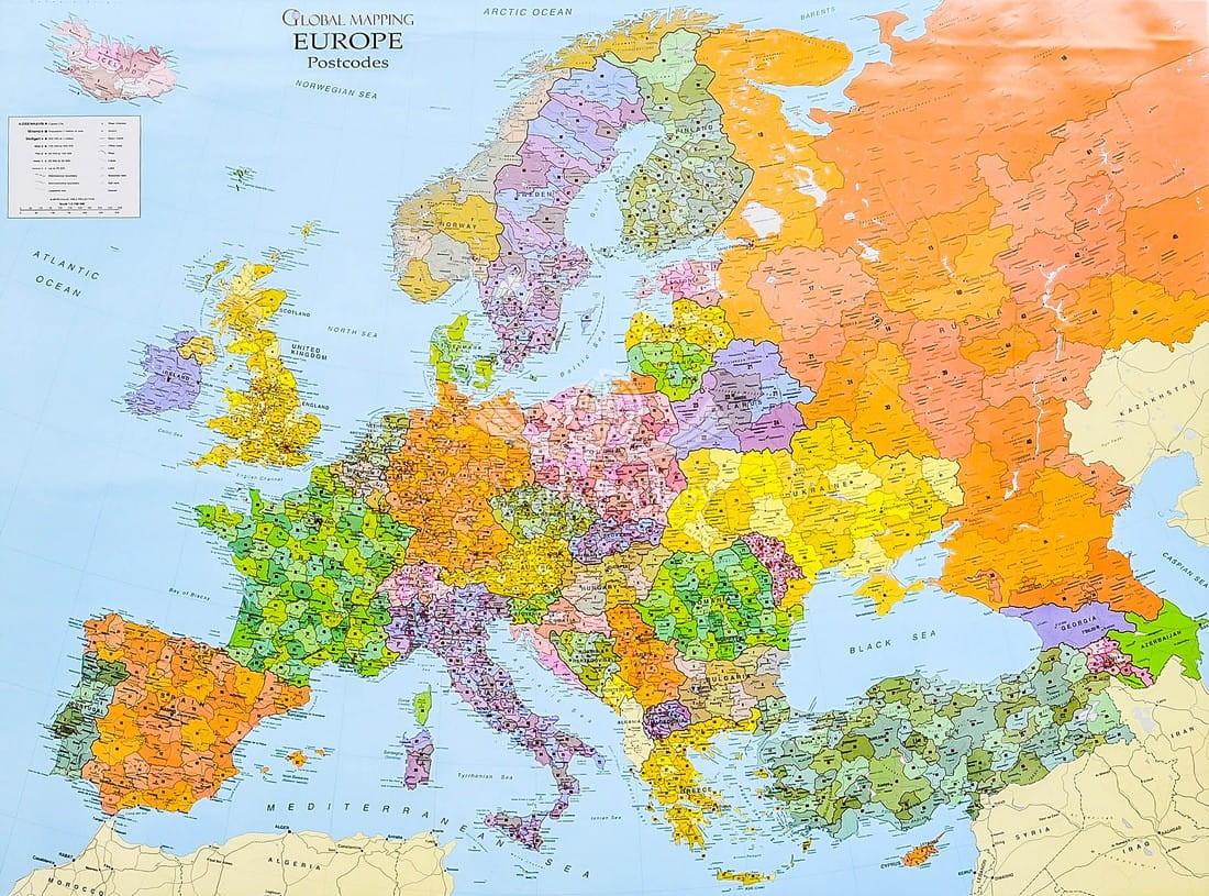 Europa Mapa Scienna Kodowa Gm