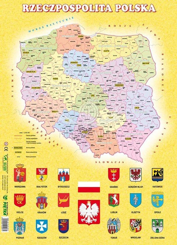Polska Mapa Administracyjna Puzzle