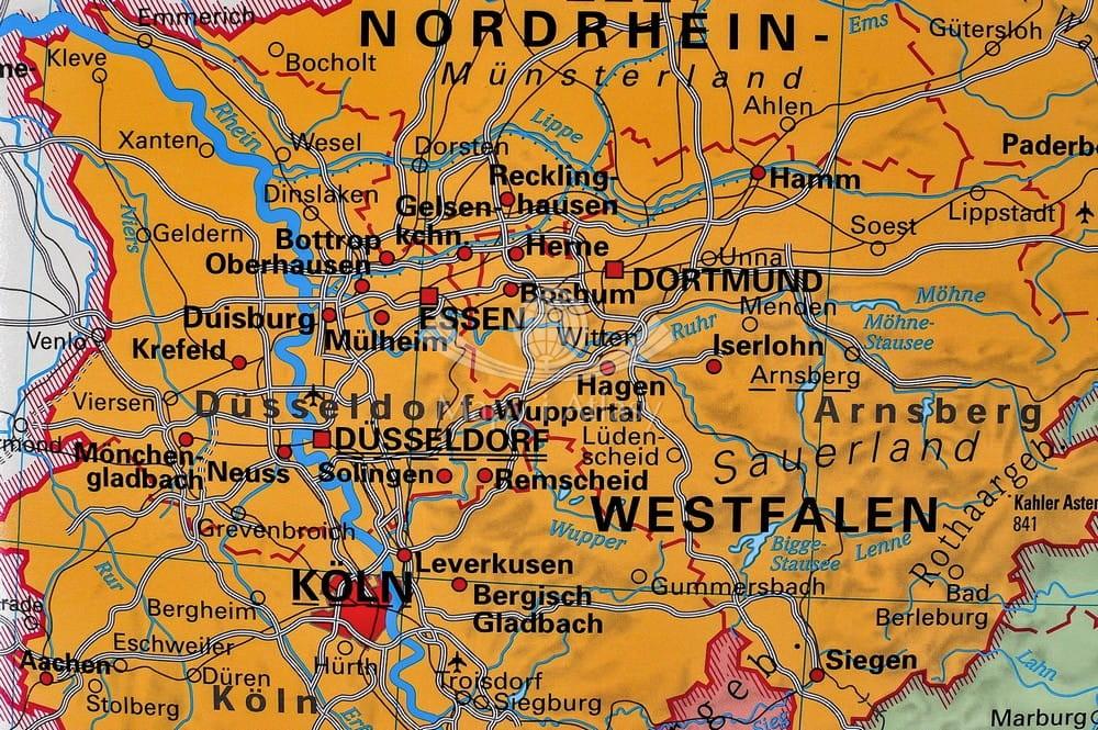 Mapa niemiec landy bawaria