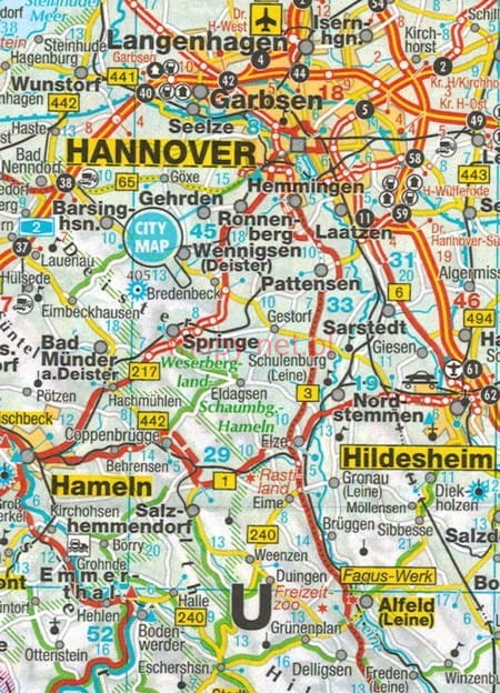 Niemcy Mapa Samochodowa Sladana Mp